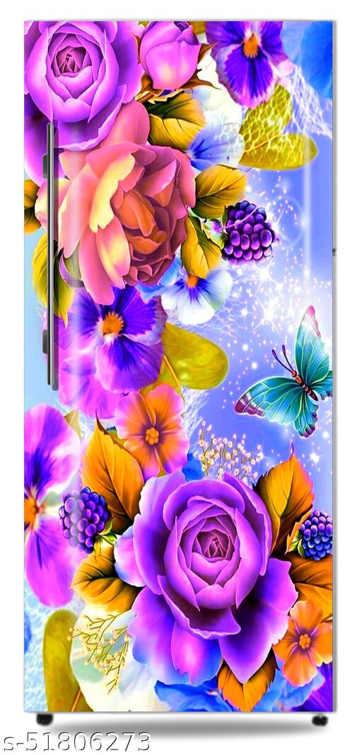HD-nature-butterfly-color-colorful-flowers-leaves-roses Door Sticker