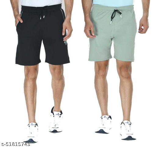 Solid Men multicolor Regular Shorts