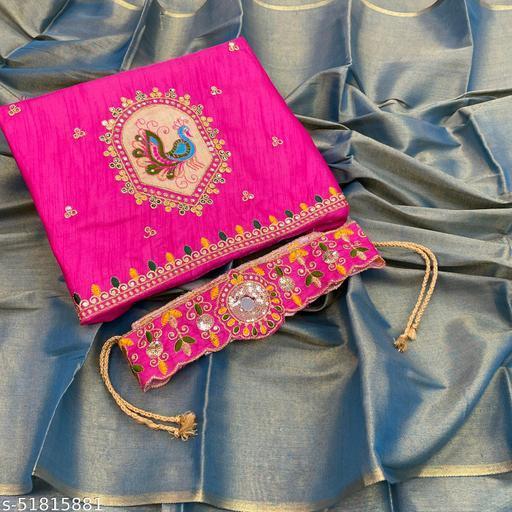 ps two tone belt saree