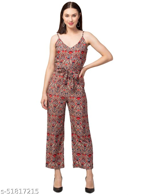 RIVA LOVE Women's Floral Printed Jumpsuit (Multicolor)