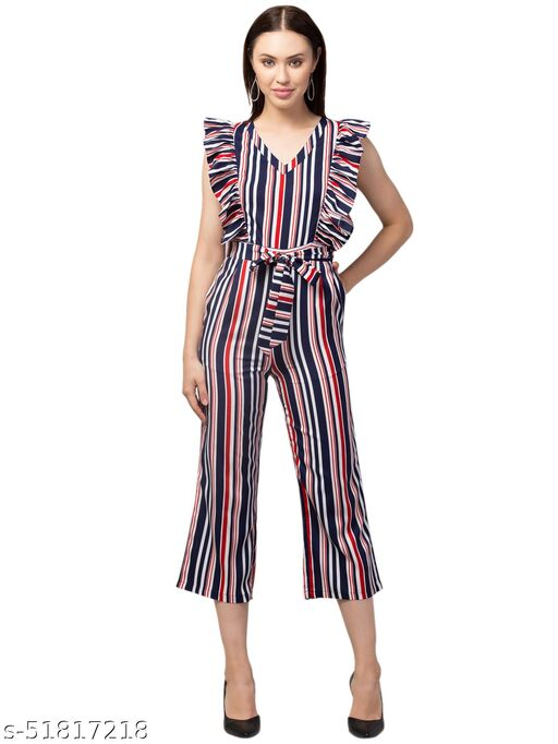 RIVA LOVE Women's A-Line Maxi Printed Jumpsuit (Multicolor)