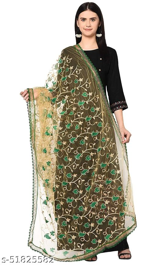Ethnic studio present's new and very fresh collection of soft net embroidery stylist dupatta for woman and girls