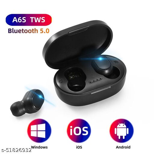 HR GOLD- A6S TWS Earbuds Bluetooth 5.0 Earphone Stereo Wireless Headset LED Display with Mic IPX4 Waterproof for All Phones