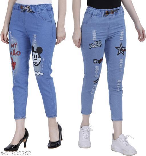 Casual Unique Women Jeans