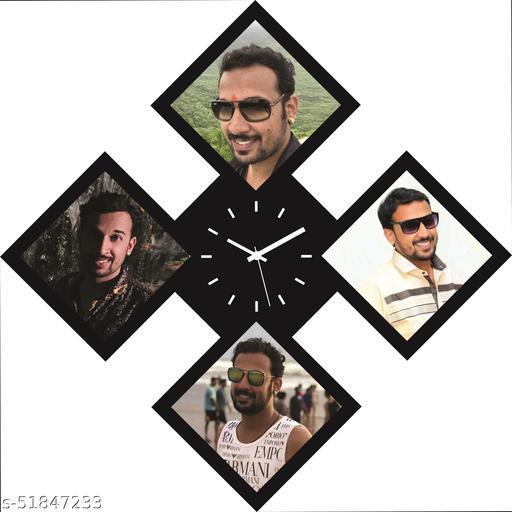 GiftoKing Wall Clock Customized GWC 2074 Size : Large ( 60 x 60 CM / 24 x 24 Inch )