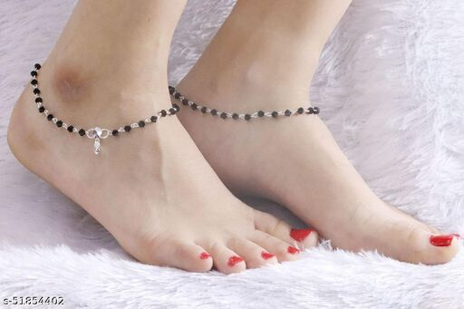 a fancy silver payal for whomen and girl Anklets & Toe Rings