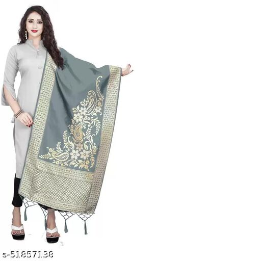 Ethnic studio present's Wedding Special Heavy Jecquard Banarasi Silk.Dupatta This Dupatta Is Sure Kept You Highlighted In All Functions This Dupatta Is A Perfect Partner For All Your Looks.
