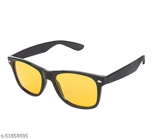 Kemtech Bike riding/ Vehicle Driving Night Vision Glasses Yellow wayfarer