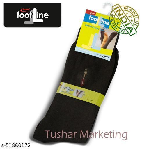 Rupa Footline Men's Cotton Calf Length Formal 1 Pair Socks|SENOR|Fline-1(37-SENOR-2032_BROWN)