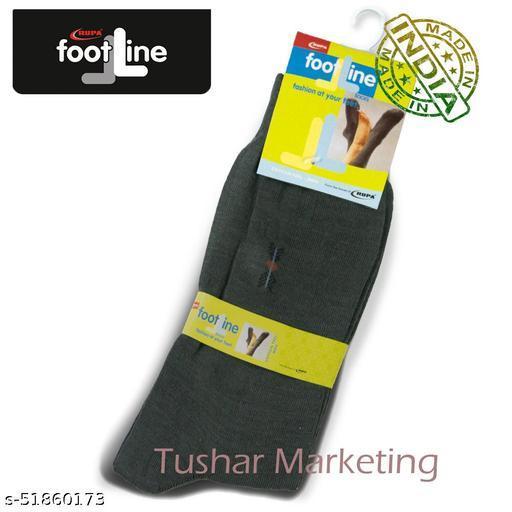 Rupa Footline Men's Cotton Calf Length Formal 1 Pair Socks SENOR Fline-1(35-SENOR-2013_OLIVE)