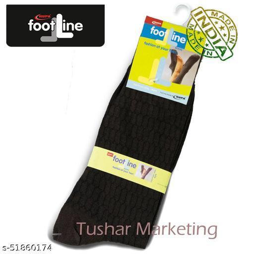 Rupa Footline Men's Cotton Calf Length Formal 1 Pair Socks|SENOR|Fline-1(79-SENOR-3015_BROWN)