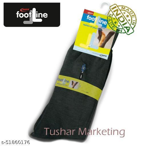 Rupa Footline Men's Cotton Calf Length Formal 1 Pair Socks SENOR Fline-1(40-SENOR-2032_OLIVE)