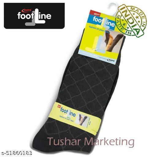 Rupa Footline Men's Cotton Calf Length Formal 1 Pair Socks|SENOR|Fline-1(74-SENOR-3007_BROWN)