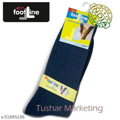Rupa Footline Men's Cotton Calf Length Formal 1 Pair Socks|SENOR|Fline-1(77-SENOR-3008_NAVY)