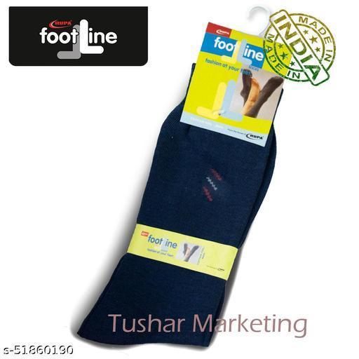 Rupa Footline Men's Cotton Calf Length Formal 1 Pair Socks|SENOR|Fline-1(75-SENOR-3007_NAVY)