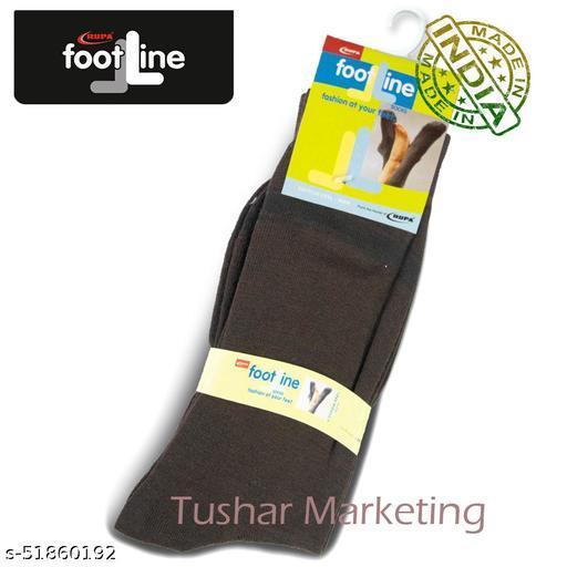 Rupa Footline Men's Cotton Calf Length Formal 1 Pair Socks|SENOR|Fline-1(76-SENOR-3008_BROWN)