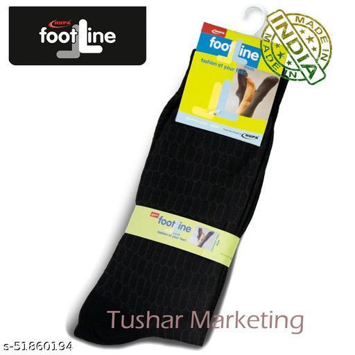 Rupa Footline Men's Cotton Calf Length Formal 1 Pair Socks|SENOR|Fline-1(78-SENOR-3015_BLACK)