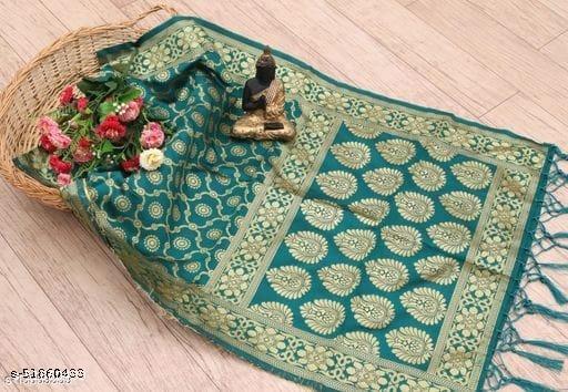 Pandadi Women's Woven Fancy Banarasi Silk Dupatta