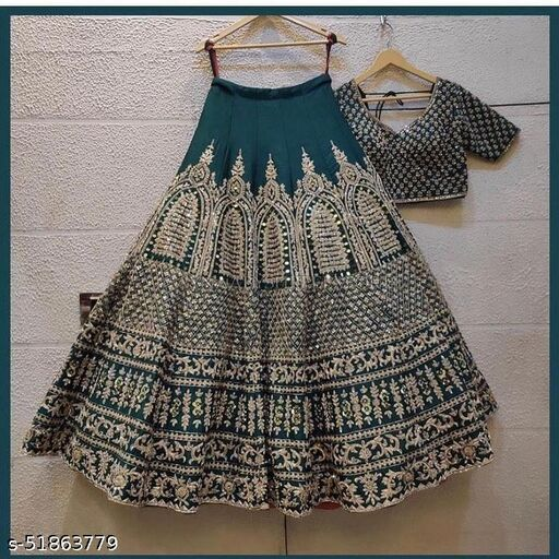 party wear green lehenga colletion of latest design 2021(nevil collection) LC 282