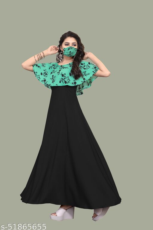 SKV Womens Polycrepe Maxi Dress sleeveless