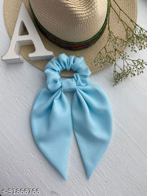 Beautiful Hair Scrunchy With Tails set for 1