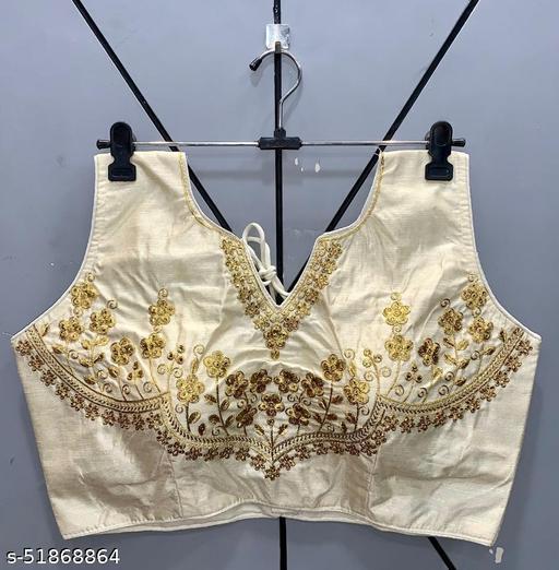 Zihana Creation's Latest Zari Embroidery Women Wear Sleeveless  Black Readyade Blouse