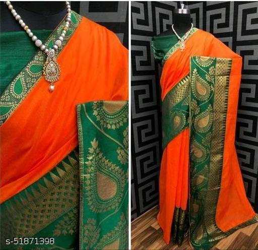 PD Fashion Orange Color Chendari cotton Saree with Jacquard Blouse
