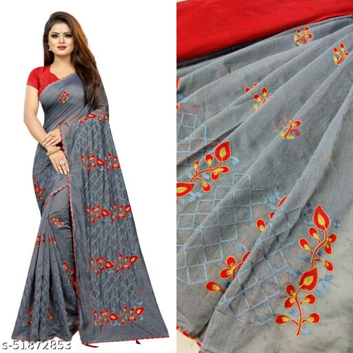 Fashion Lust Pink Color Chanderi Cotton Saree with Embroidered Work and Banglori Silk Blouse