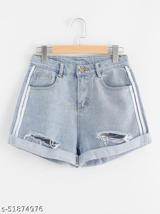 Rips Denim Shorts
