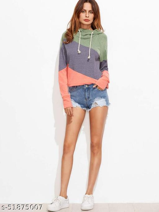 Distressed Frayed Raw-Cut Denim Shorts