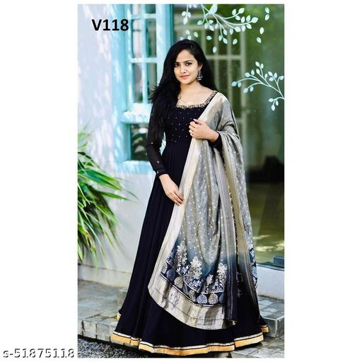 Hot Demanding Black colored Embrodeiry with Jacquard silk Duppata
