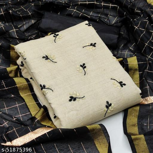 Women's khadi cotton Dress Material