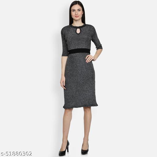 MISS-18 Women's Keyhole Neck Fashion Dress