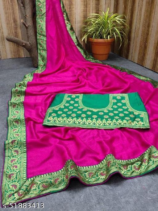 Pure Heavy Vicitra Soft Silk Saree