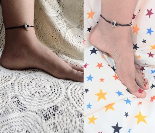 Allure Glittering Women Anklets & Toe Rings