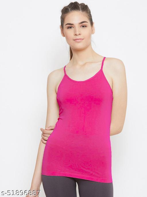 flits Women's Ladies Cotton Adjustable Strap Adjustable Strap Innerwear Camisole Slip