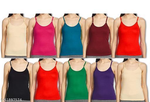 Women Cotton Cmisole Multicolor