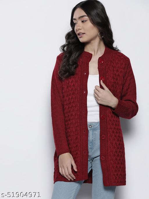 Women's Woollen Solid Color Coat