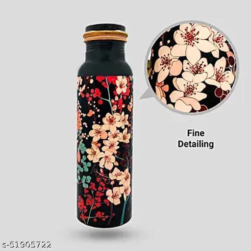 Sone Key Chidiya Copper Bottle Cherry Look Handmade design 1000 Ml&750ml(pack 2)
