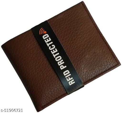 Men Brown Genuine Leather Wallet 6 Card Slot 1 Note Compartment