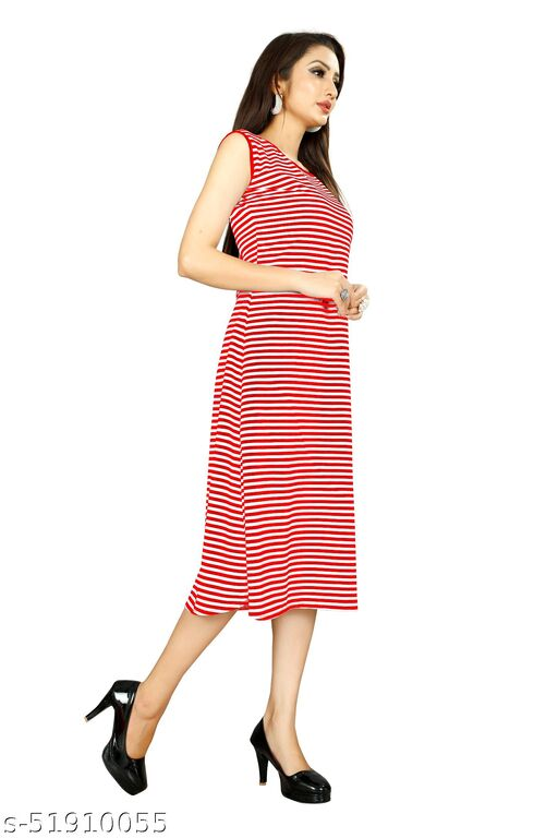 Women's Red Color Designer Fashionable Daily wear Dress