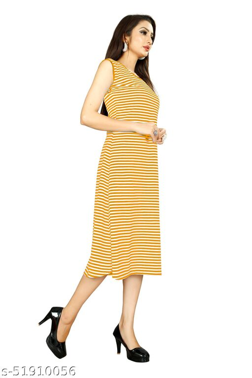 Yellow Color Women's Western Party Wear Dress