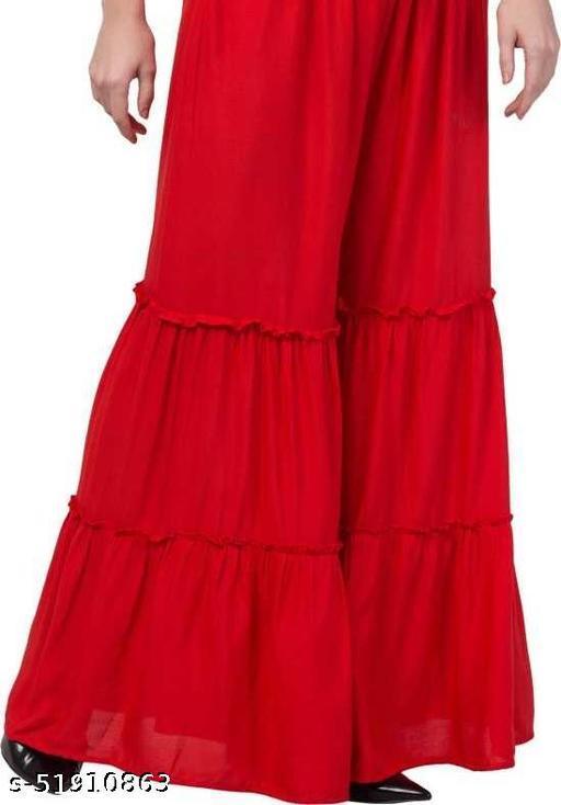Women Rayon Ethnic Sharara trouser