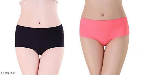 Unique_Enterprise Women's & Girls Fancy Cotton Panties Briefs (Pack Of 2)