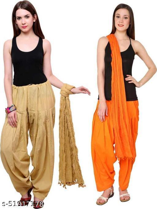 Women's Cotton Traditional Patiala Salwar Combo with Dupatta