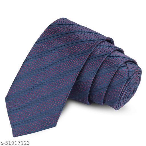 Panjatan Blue & Purple Coloured Bold Tingled Patterned Microfiber Skinny Necktie for Men.(Width-2.5 Inch)…