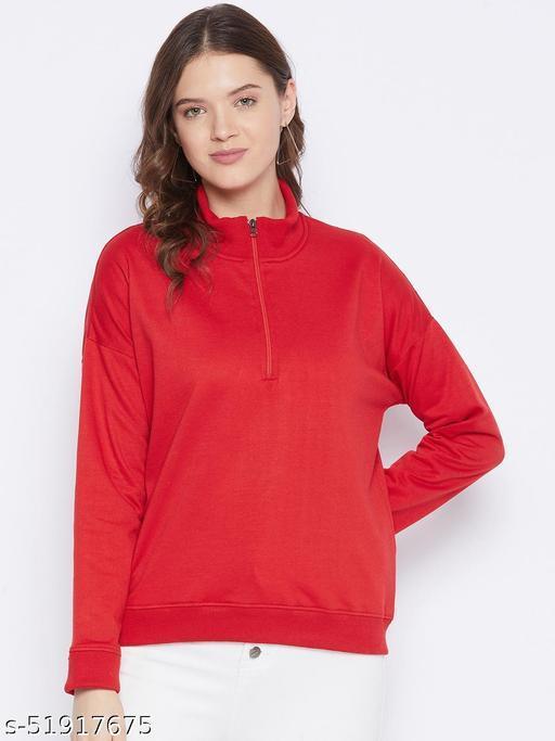 Women's Fleece Half Zipper Drop Shoulder Sweatshirt