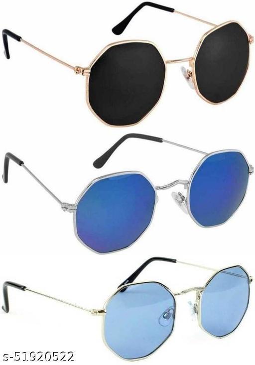 WhayUnisex Octagonal Sunglasses/Frame for Men & Women