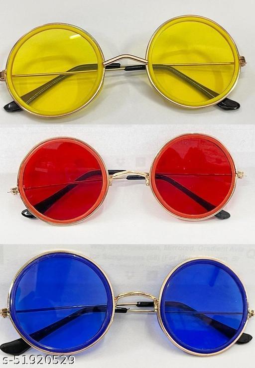 WhayUnisex Round Sunglasses/Frame for Men & Women