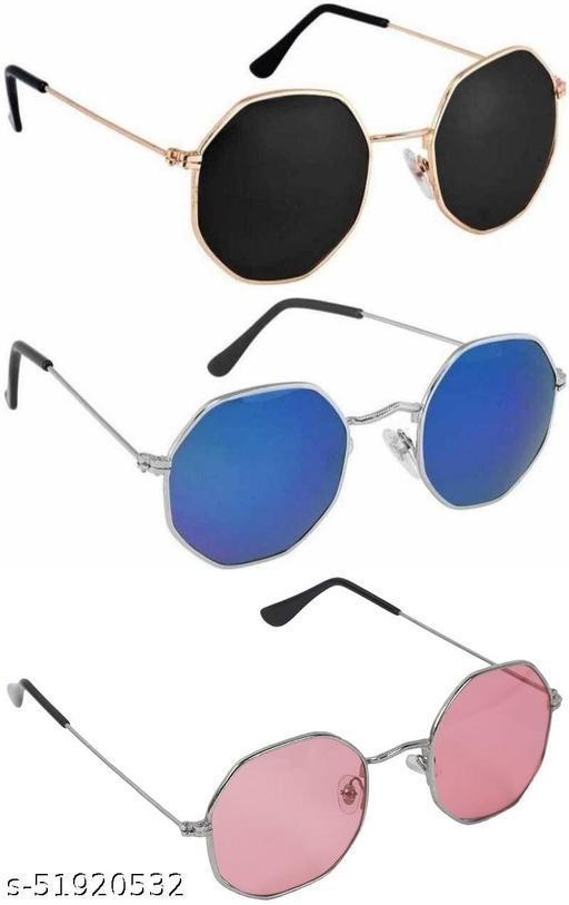 WhayUnisex Octagonal Sunglasses